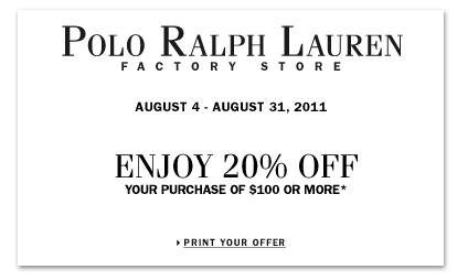 Polo outlet sales coupons