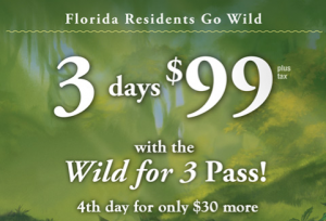 Disney Florida Resident Wild For 3-Day Pass