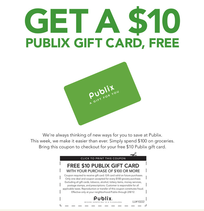 Free 10 publix gift card when you spend 100 on groceries - Busch gardens discount tickets publix ...