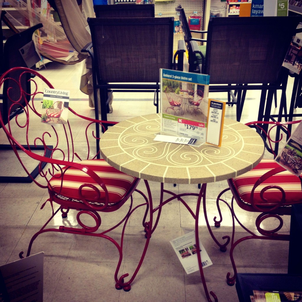 Country Living Amherst Wire Bistro Table #kmartoutdoor