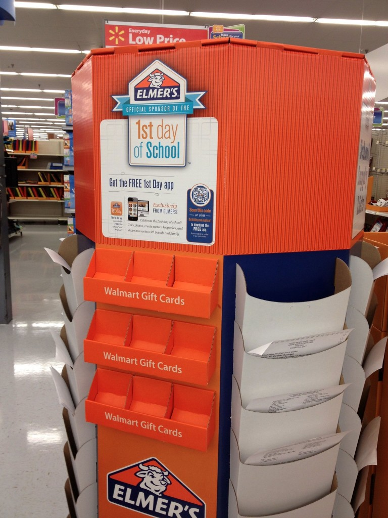 Elmer's 1st Day App Display #BagItForward