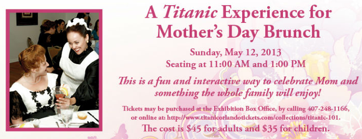 Mother's Day Brunch at The Titanic Experience