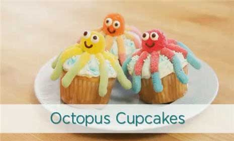 Octopus Cupcakes from Parents.com Family Fun Magazine