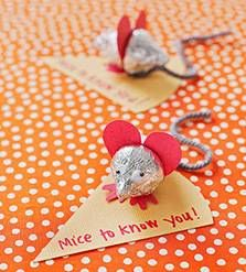 DIY Sweet Mice Valentine's Day Cards