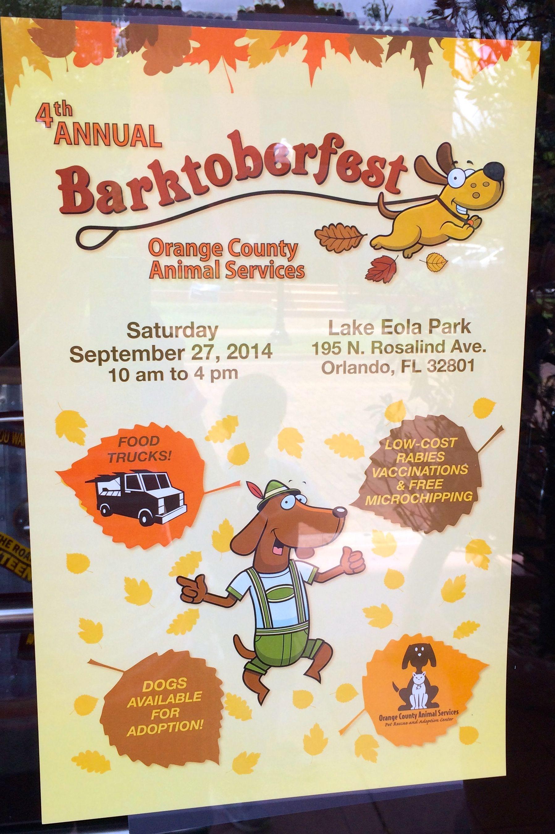 4th Annual BARKTOBERFEST Adoption Event At Lake Eola Park #AdoptDontBuy