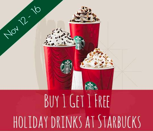 Starbucks Holiday BOGO