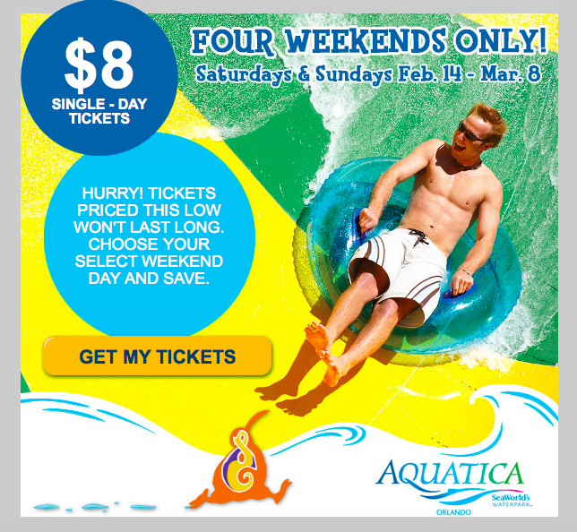 Aquatica $8 Tickets