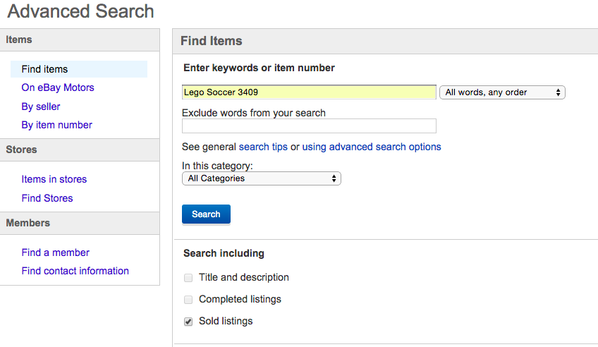 Ebay Tip Determine Pricing By Searching Sold Listings The Unemployed Mom