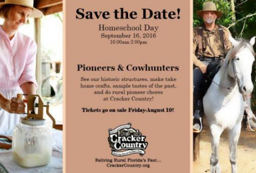 Homeschool Day: Pioneers & Cowhunters at Cracker Country