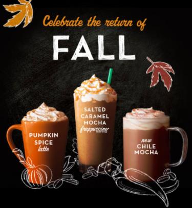 Starbucks September $3 Grande Fall Beverage Deal