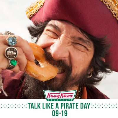 #TalkLikeAPirate On 9/19 For Free Krispy Kreme Doughnuts