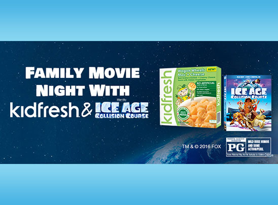 Healthy Movie Night With Kidfresh & Ice Age: Collision Course + Giveaway #KidFreshIceAge