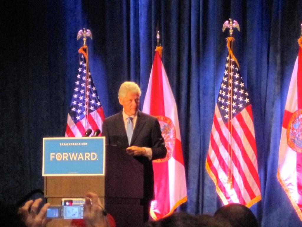 Bill Clinton Rally In Orlando