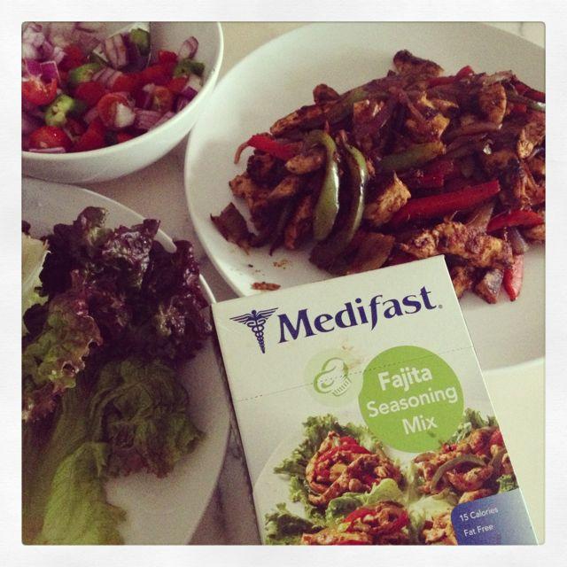 #Medifast Chicken Fajita Lettuce Wraps Are So Yummy