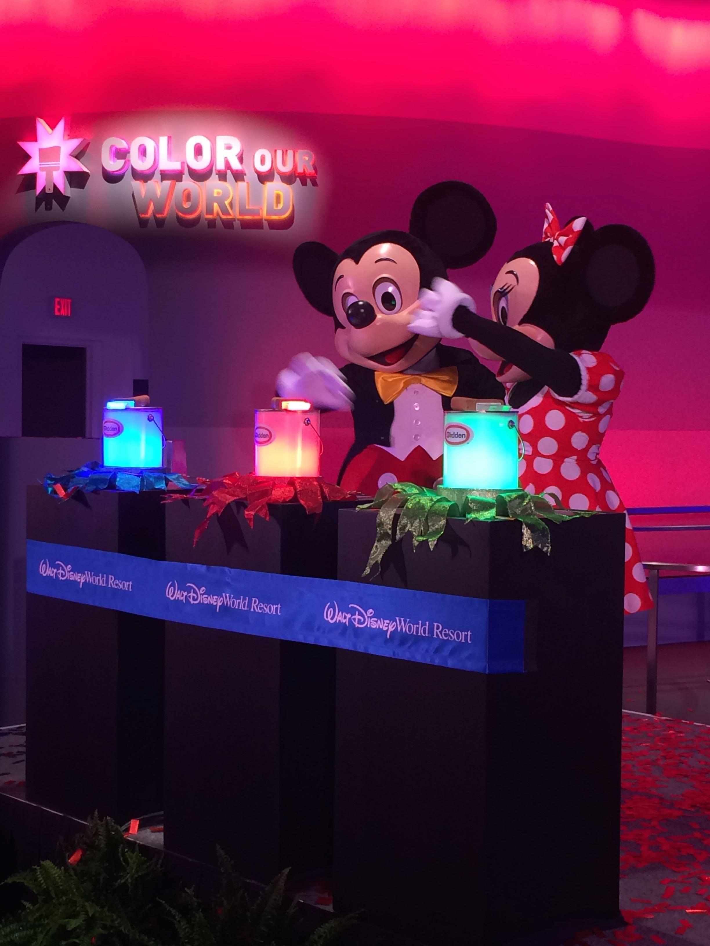 New Colorful Epcot Exhibit: Colortopia Presented By Glidden