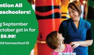 Crayola Experience Orlando $9.99 Homeschool Deal In September and October